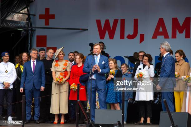 King Willem Alexander of the Netherlands and Queen Maxima of the Netherlands and their children Princess CatharinaAmalia of the Netherlands Princess...