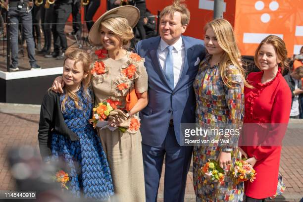 King Willem Alexander of the Netherlands Queen Maxima of the Netherlands and their children Princess CatharinaAmalia of the Netherlands Princess...
