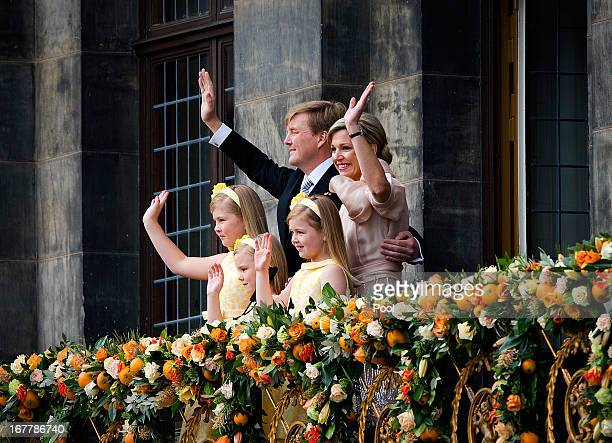 King Willem Alexander of the Netherlands Queen Maxima of the Netherlands and their daughters CrownPrincess Catharina Amalia of the Netherlands...