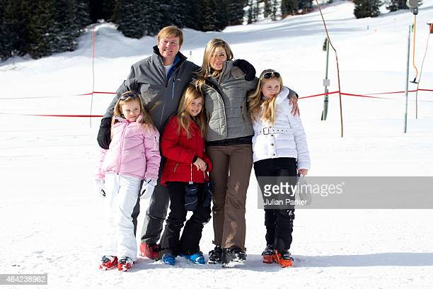 King Willem Alexander of The Netherlands, Queen Maxima of The Netherlands, Princess Ariane, Princess Alexia and Crown Princess Catharina Amalia...