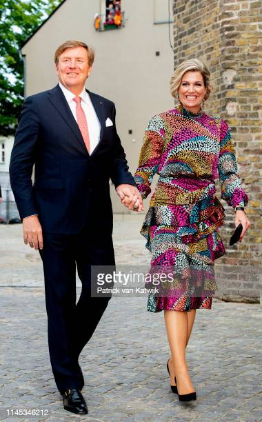 King WillemAlexander and of The Netherlands and Queen Maxima of The Netherlands attend an literary dinner on May 21 2019 in Rostock Germany
