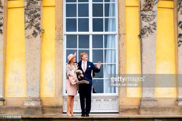 King WillemAlexander and of The Netherlands and Queen Maxima of The Netherlands visit Schloss Sanssouci on May 22 2019 in Rostock Germany