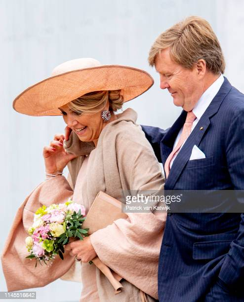 King WillemAlexander and of The Netherlands and Queen Maxima of The Netherlands visit Medienstadt on May 22 2019 in Rostock Germany