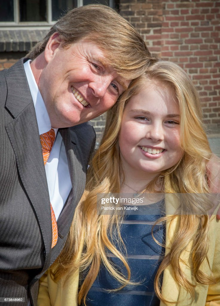 King Willem-Alexander and Princess Amalia attend the King's 50th birthday during the Kingsday celebrations on April 27, 2017 in Tilburg, Netherlands.
