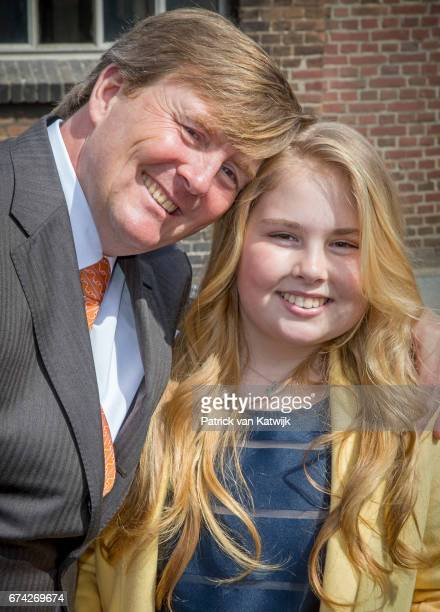King WillemAlexander and Princess Amalia of The Netherlands attend the King's 50th birthday during the Kingsday celebrations on April 27 2017 in...
