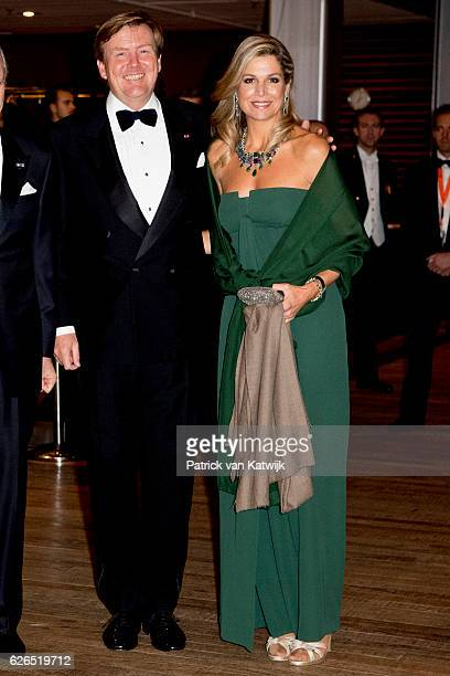 King WillemAlexander and Queen Maxima at the start of the concert offered by the Belgian King in the Muziekgebouw Aan't IJ Amsterdam on November 29...