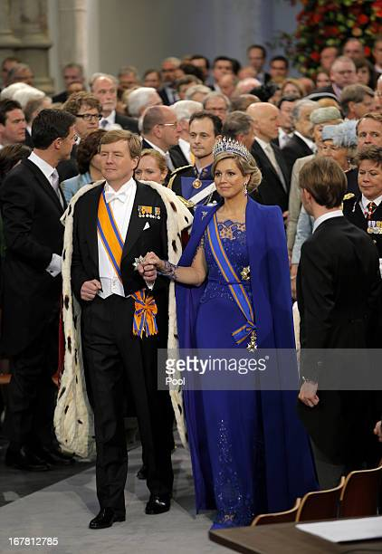 King WillemAlexander and Queen Maxima leave following the inauguration ceremony of King Willem Alexander and Queen Maxima of the Netherlands at New...