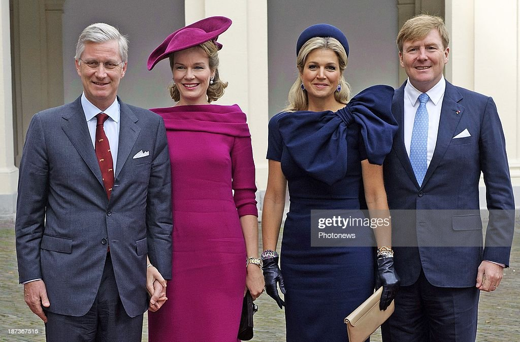 Philippe and Mathilde to Den Haag : News Photo