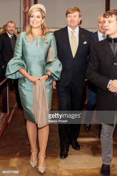 King WillemAlexander And Queen Maxima Of The Netherlands arrive at the Spinlab a former cotton spinning mill now home to a startup accelerator where...