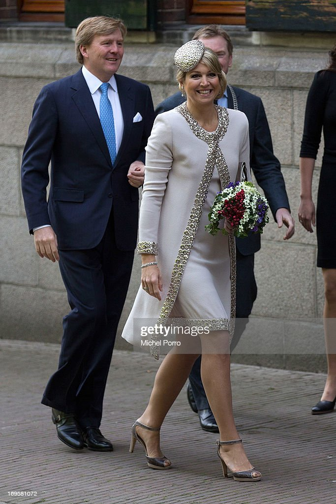 King Willem-Alexander and Queen Maxima Visit Groningen And Drenthe Provinces