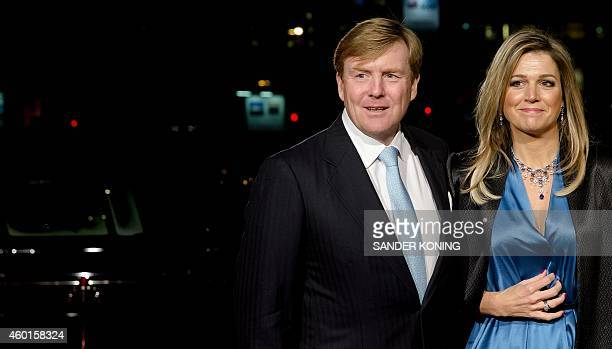 King WillemAlexander and Queen Maxima of The Netherlands arrive to attend the 75th birthday celebration of professor Pieter van Vollenhoven husband...