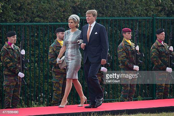 King WillemAlexander and Queen Maxima of the Netherlands arrive to attend the official Belgian federal government ceremony to commemorate the...