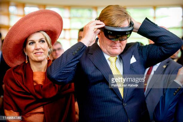 King WillemAlexander and Queen Maxima of The Netherlands attend an meeting about sustainability from the agriculture at the Botanical Gardens on June...