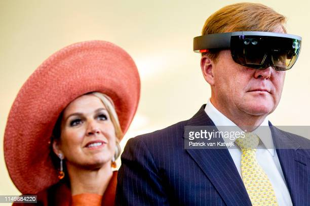 King WillemAlexander and Queen Maxima of The Netherlands attend an meeting about sustainability from the agriculture at the Botanical Gardens during...
