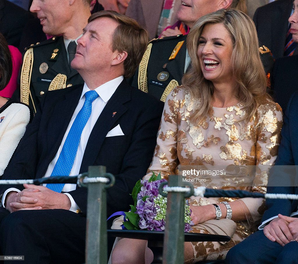 King Willem-Alexander and Queen Maxima Of The Netherlands Attend Liberation Day Concert : News Photo