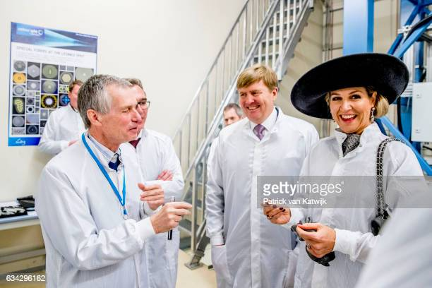 King WillemAlexander and Queen Maxima of The Netherlands attend the Event High Tech Systems and Materials at he Leibniz Insitut fur Photonosche...