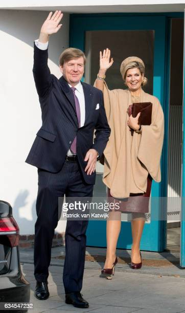 King WillemAlexander and Queen Maxima of The Netherlands attend the trade mission on watermanagement in the Kornhaus during their 4 day visit to...