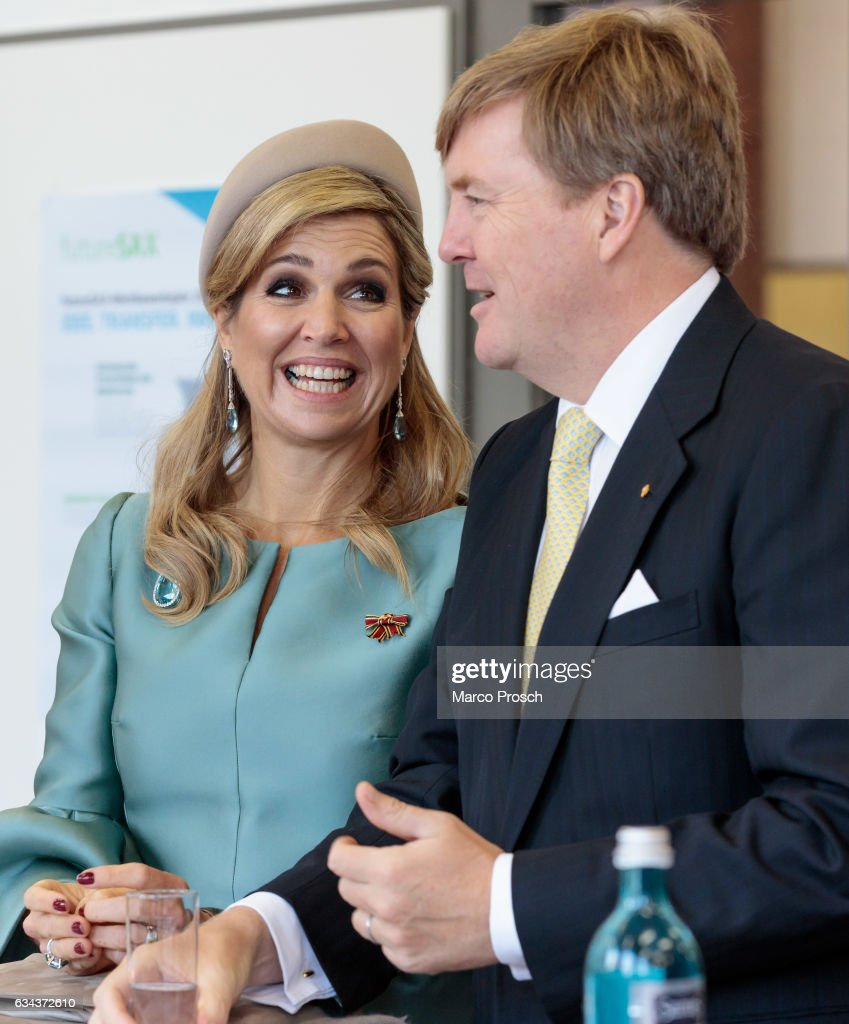 King Willem-Alexander And Queen Maxima Of The Netherlands Visit Saxony - Day 2 : Nieuwsfoto's