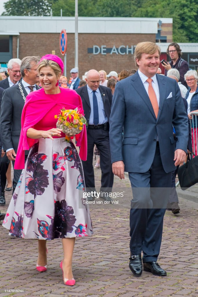 King Willem-Alexander and Queen Maxima visiting Nagele in the Netherlands : News Photo