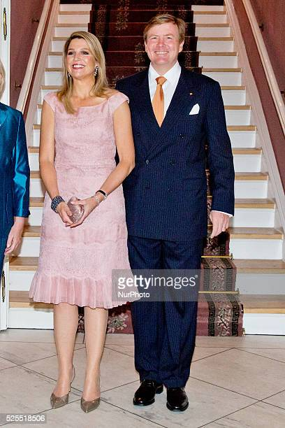 MUNSTER King WillemAlexander and Queen Maxima of The Netherlands have a dinner with Prime Minister Stephan Weil of Lower Saxony and Prime Minister...
