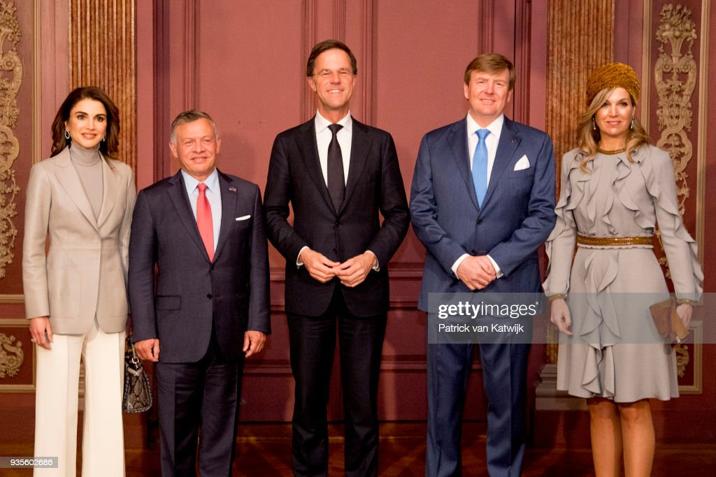 King Abdullah II Of Jordan And Queen Rania Of Jordan On Official Visit In The Hague : Day Two : Nieuwsfoto's