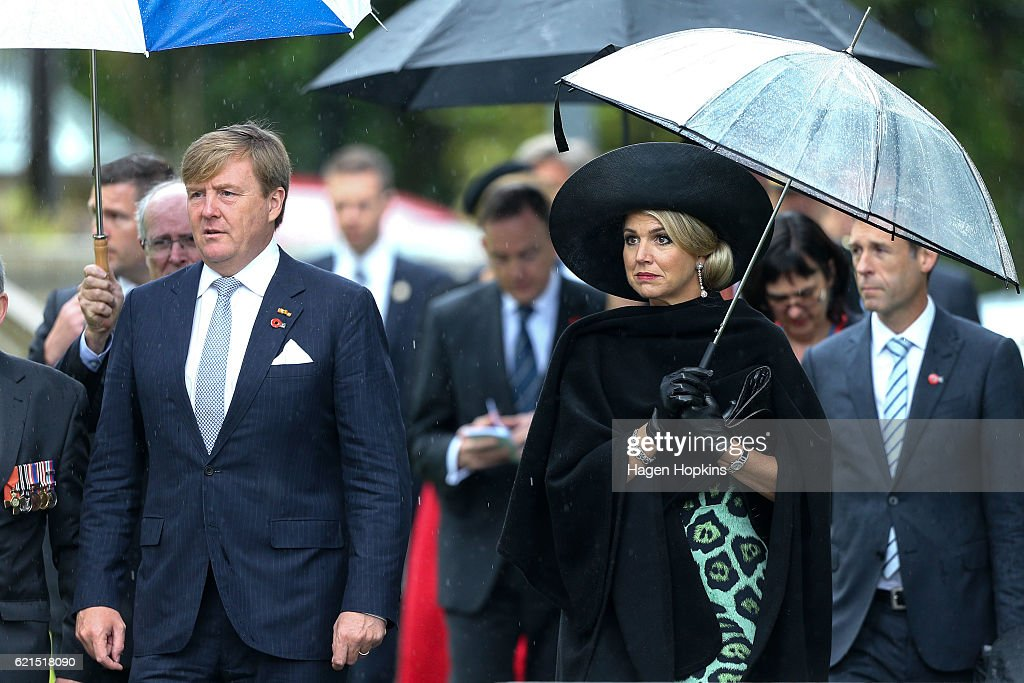 King Willem-Alexander And Queen Maxima Of The Netherlands Visit New Zealand : News Photo