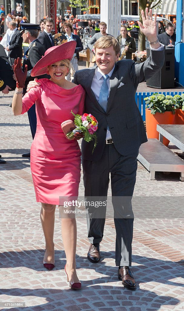 King Willem-Alexander and Queen Maxima of The Netherlands participate in King's Day on April 27, 2015 in Dordrecht, Netherlands.