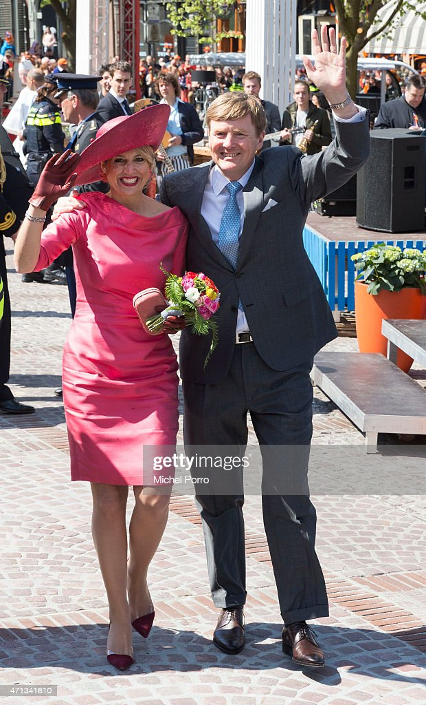 King Willem-Alexander and Queen Maxima of The Netherlands participate in King's Day celebrations on April 27, 2015 in Dordrecht, Netherlands.
