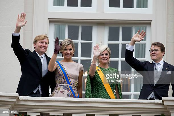 King WillemAlexander and Queen Maxima of The Netherlands Princess Laurentien of The Netherlands and Prince Constantijn of the the Netherlands on the...