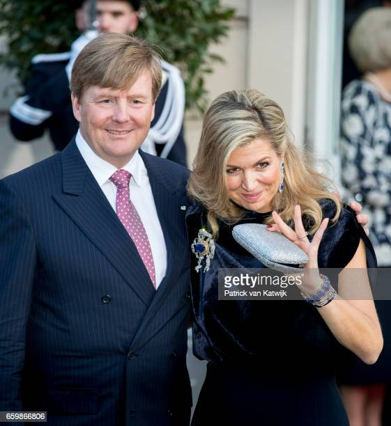 King WillemAlexander and Queen Maxima of The Netherlands together at theater Dilligentia after the ballet performance offered by the Argentinean...