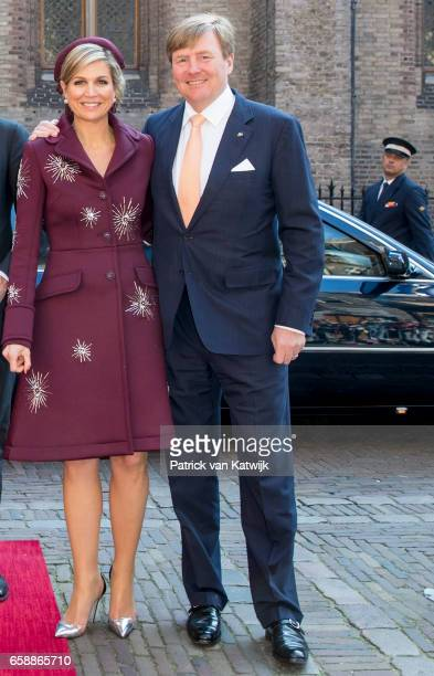 King WillemAlexander and Queen Maxima of The Netherlands together during the visit of the Argentinean President to prime minister Mark Rutte at The...