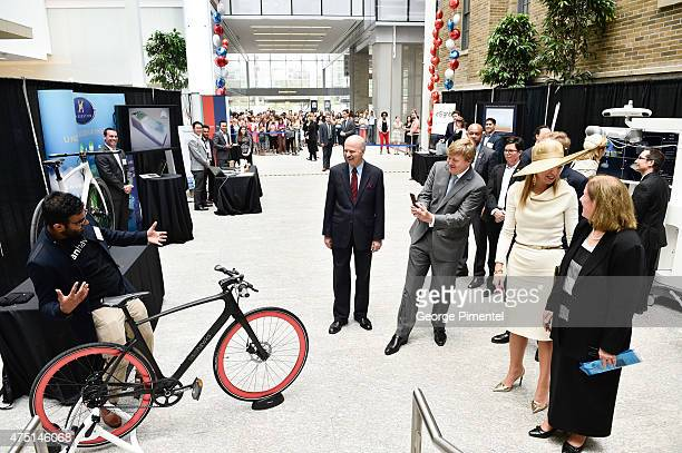 King WillemAlexander and Queen Maxima of The Netherlands visit MaRS Discovery District during state visit to Canada on May 29 2015 in Toronto Canada