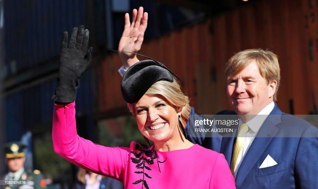BRITAIN-NETHERLANDS-ROYALS : News Photo
