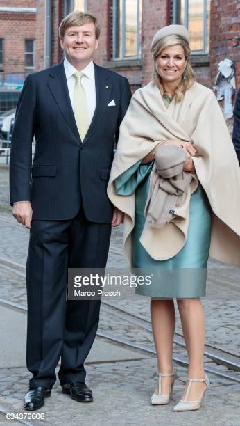 King WillemAlexander And Queen Maxima Of The Netherlands visit the Spinlab a former cotton spinning mill now home to a startup accelerator where...