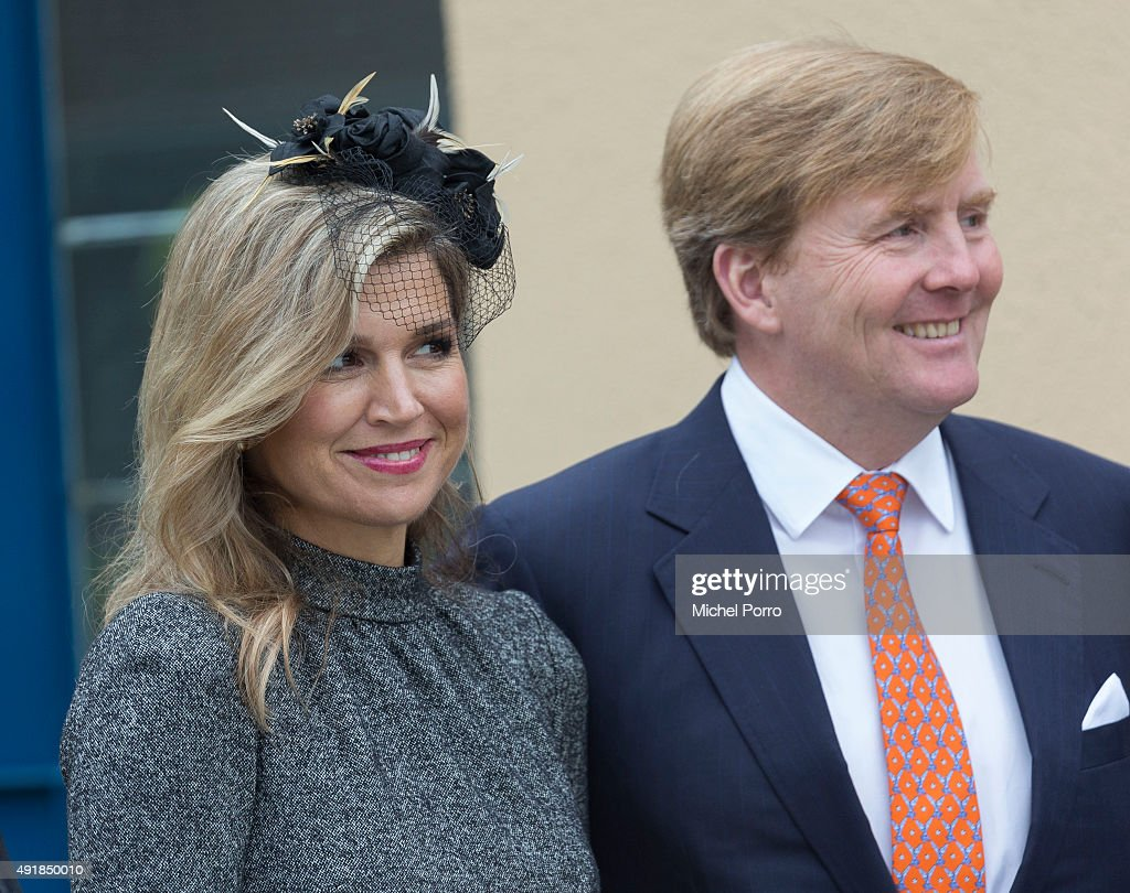 King Willem-Alexander and Queen Maxima Of The Netherlands Visit Former Mining Region : News Photo