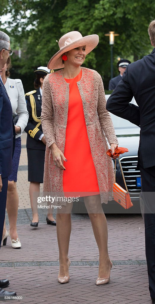 King Willem-Alexander and Queen Maxima Of The Netherlands Tour Friesland Province : News Photo
