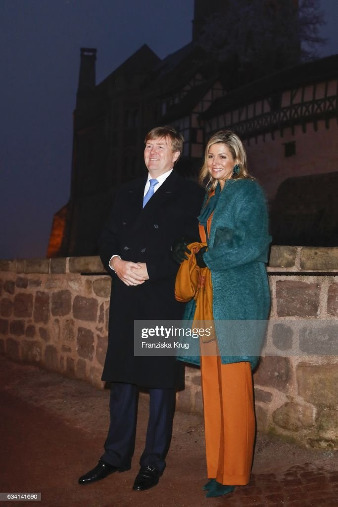 King Willem-Alexander And Queen Maxima Of The Netherlands Visit Thuringia - Day 1 : News Photo