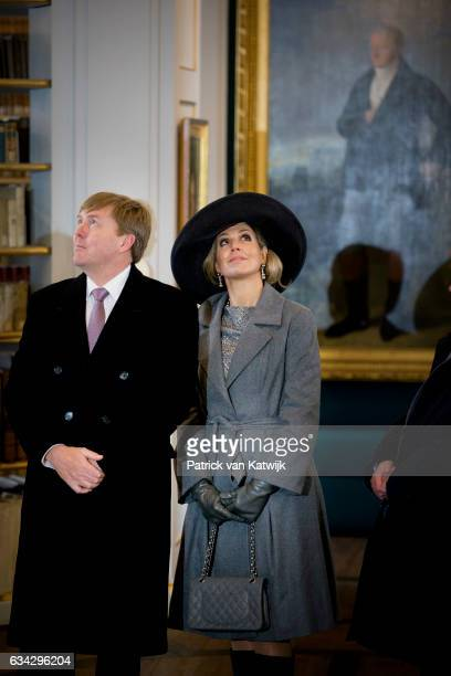 King WillemAlexander and Queen Maxima of The Netherlands visit the Hertogin Anna Amalia Bibliotheek during their 4 day visit to Germany on February...