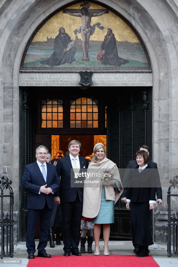 King Willem-Alexander And Queen Maxima Of The Netherlands Visit Thuringia - Day 3 : News Photo