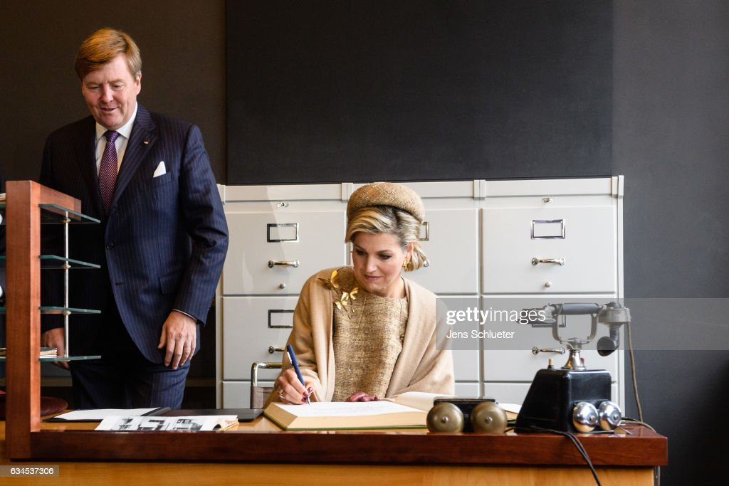 King Willem-Alexander And Queen Maxima Of The Netherlands Visit Thuringia - Day 4 : News Photo