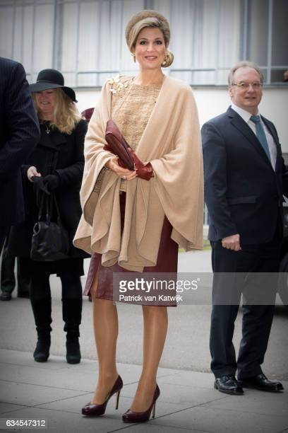King WillemAlexander and Queen Maxima of The Netherlands visit the Bauhaus art academy during their 4 day visit to Germany on February 10 2017 in...