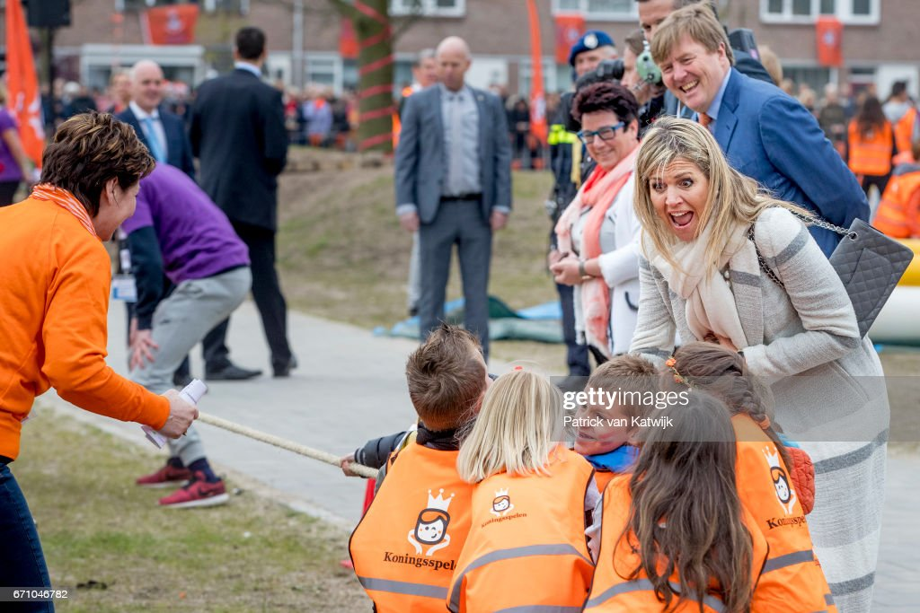 King Willem-Alexander Of The Netherlands and Queen Maxima Netherlands Attend The King's Games In Veghel : Nieuwsfoto's