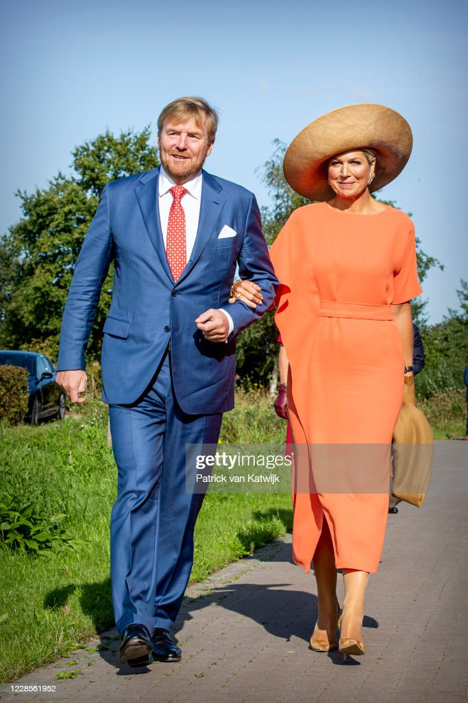 King Willem-Alexander Of The Netherlands and Queen Maxima Of The Netherlands Visit Region Friesland : News Photo