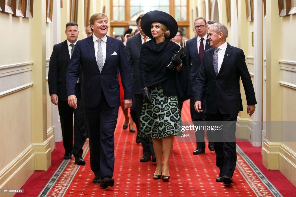 NZEALAND-NETHERLANDS-ROYALS-DIPLOMACY : News Photo