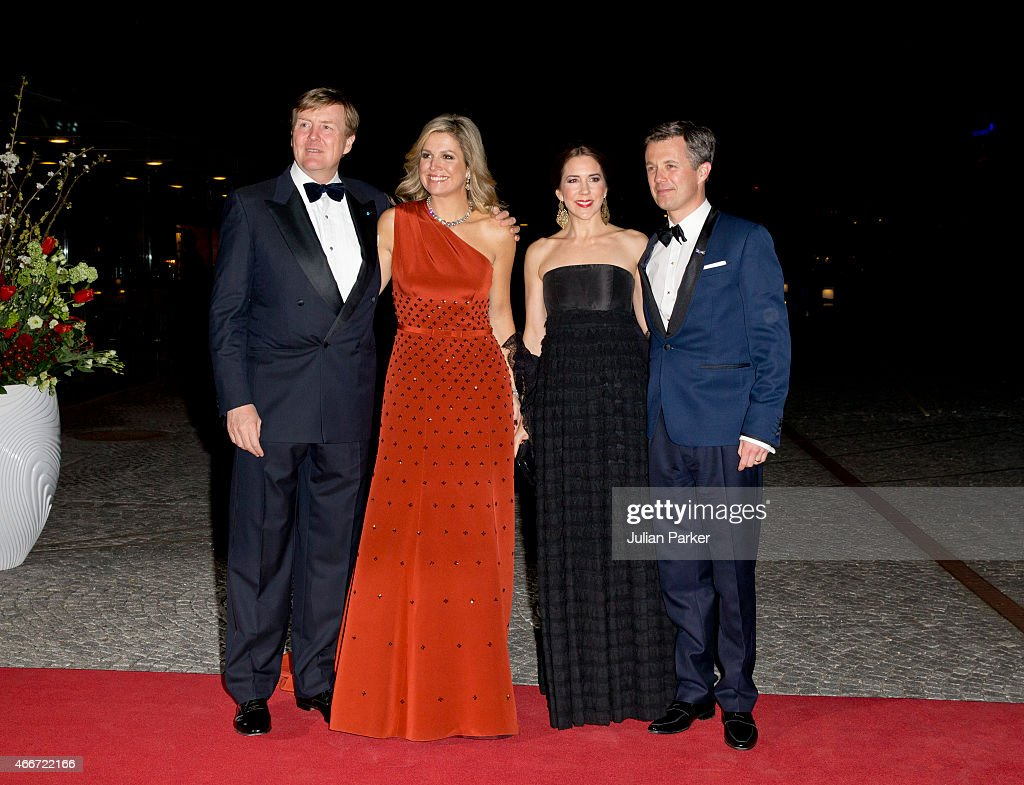 Queen Maxima and King Willem-Alexander of The Netherlands Visit Denmark : News Photo