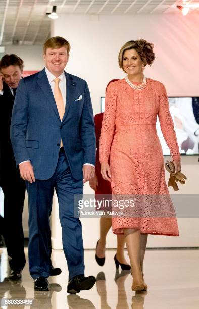 King WillemAlexander and Queen Maxima of The Netherlands with President Marcelo Rebelo de Sousa visit the Museo Nacional Arte Antiga and the...