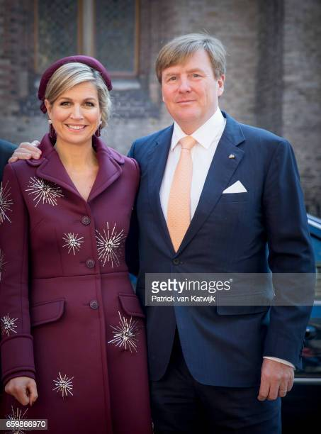 King WillemAlexander and Queen Maxima together during the visit of the Argentinean president to Prime Minister Mark Rutte on March 28 2017 in The...