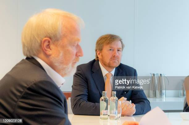 King WillemAlexander and Queen Maxima visit the National Institute for Public Health for an briefing about the fight against the Coronavirus on April...