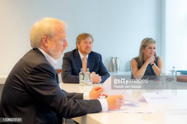 King WillemAlexander and Queen Maxima visit the National Institute for Public Health for an briefing about the fight against the Coronavirus COVID19...