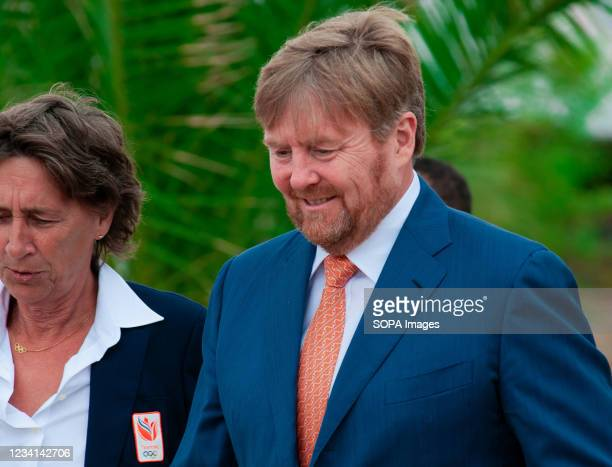 King Willem-Alexander, arrives for the opening of TeamNL Olympic Festival on the sports beach of The Hague. H.R.H. King William-Alexander of The...